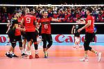 14.09.2019, Paleis 12, BrŸssel / Bruessel<br />Volleyball, Europameisterschaft, Deutschland (GER) vs. Belgien (BEL)<br /><br />Ruben Schott (#3 GER), Julian Zenger (#10 GER), Denys Kaliberda (#6 GER), Anton Brehme (#12 GER), Georg Grozer (#9 GER), Lukas Kampa (#11 GER) enttŠuscht / enttaeuscht / traurig <br /><br />  Foto © nordphoto / Kurth