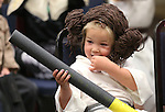 Alivia Roberts, 4, waits for the costume contest during the Star Wars Day celebration at the Carson City Library in Carson City, Nev. on Wednesday, May 4, 2016.<br /> Photo by Cathleen Allison