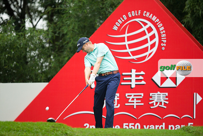 Russell Knox (SCO) on the 2nd tee during the 1st round of the  WGC-HSBC Champions, Sheshan International GC, Shanghai, China PR.  27/10/2016<br /> Picture: Golffile | Fran Caffrey<br /> <br /> <br /> All photo usage must carry mandatory copyright credit (&copy; Golffile | Fran Caffrey)