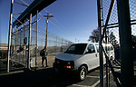 A prison van containing the last handful of inmates leaves the historic Nevada State Prison, in Carson City, Nev.,on Monday, Jan. 9, 2012. The 150-year-old facility has been closed by state budget cuts..Photo by Cathleen Allison