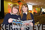 Students from Presentation Tralee, pictured at the Young Entrepreneur Business Boot Camp on Friday: Annie O'Donnell and Nicola McCarthy.