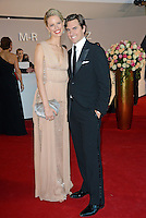 "Karolina Kurkova and husband Archie Drury attending the ""Rosenball"" Charity Gala in favor of the ""Stiftung Deutsche Schlaganfallhilfe"" held at the Hotel Intercontinental in Berlin, Germany, 09.06.2012..Credit: Michael Timm/face to face /MediaPunch Inc. ***FOR USA ONLY*** NORTEPHOTO.COM"