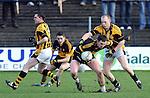 18-02-12: Daithi Casey,  Dr Crokes, breaks away from Danny O'Callaghan,  Crossmaglen Rangers,  in the All Ireland Club football championship semi-final in Portlaoise on Saturday.   Picture: Eamonn Keogh (MacMonagle, Killarney)