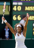 1-7-08, England, Wimbledon, Tennis,  Serena Williams makes it to the semi final