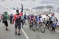 Fernando Gaviria (COL/Quick-Step Floors) up in the grupetto over the Passo dello Stelvio (alt: 2758m)<br /> <br /> Stage 16: Rovett › Bormio (222km)<br /> 100th Giro d'Italia 2017