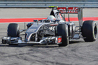 Esteban Gutierrez of Sauber F1 Team riving (21) C33 during 2014 Formula 1 United States Grand Prix race, Sunday, November 02, 2014 in Austin, Tex. (Mo Khursheed/TFV Media via AP Images)