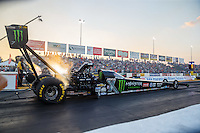 Sep 23, 2016; Madison, IL, USA; NHRA top fuel driver Brittany Force during qualifying for the Midwest Nationals at Gateway Motorsports Park. Mandatory Credit: Mark J. Rebilas-USA TODAY Sports