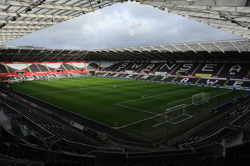 A general view of the Liberty Stadium, home of Swansea City<br /> <br /> Photographer /Ashley Crowden CameraSport<br /> <br /> The Premier League - Swansea City v Arsenal  - Saturday 14th January 2017 - Liberty Stadium - Swansea <br /> <br /> World Copyright &copy; 2017 CameraSport. All rights reserved. 43 Linden Ave. Countesthorpe. Leicester. England. LE8 5PG - Tel: +44 (0) 116 277 4147 - admin@camerasport.com - www.camerasport.com