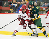 Marshall Everson (Harvard - 21), James Howden (Clarkson - 23) - The Harvard University Crimson defeated the visiting Clarkson University Golden Knights 3-2 on Harvard's senior night on Saturday, February 25, 2012, at Bright Hockey Center in Cambridge, Massachusetts.