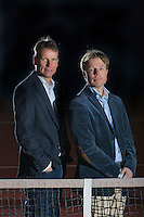25-02-2014, Netherlands, Warmond, Dekker Tennis, , KNLTB Director Erik Poel and Director Sportif Jan Siemerink(L), <br /> Photo: Henk Koster