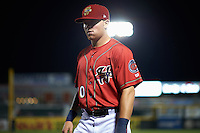 Harrisburg Senators outfielder Drew Vettleson (20) walks to the dugout during a game against the New Hampshire Fisher Cats on July 21, 2015 at Metro Bank Park in Harrisburg, Pennsylvania.  New Hampshire defeated Harrisburg 7-1.  (Mike Janes/Four Seam Images)