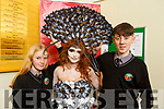 Pollution of the Ocean creation at the Gaelcolaiste Chairrai showing their creations for the Junk Koture at the school on Tuesday.<br /> L to r: Emily Nic Uileagóid (creator), Ciara Ní Shúilleabháin and Liam De Staic.