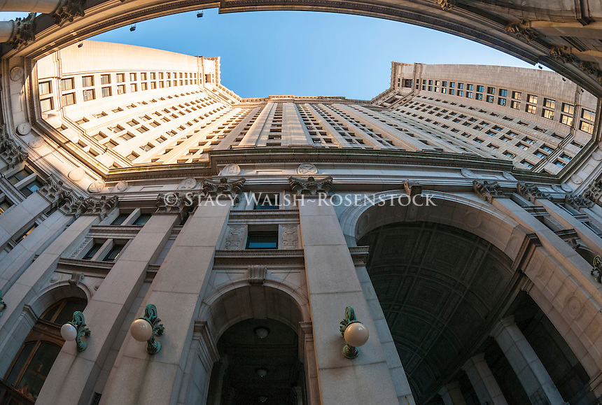 New York, NY - 24 January 2014 - The Manhattan Municipal Building, at 1 Centre Street in New York City,