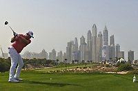 Lee Westwood (ENG) on the 8th during Round 2 of the Omega Dubai Desert Classic, Emirates Golf Club, Dubai,  United Arab Emirates. 25/01/2019<br /> Picture: Golffile | Thos Caffrey<br /> <br /> <br /> All photo usage must carry mandatory copyright credit (© Golffile | Thos Caffrey)