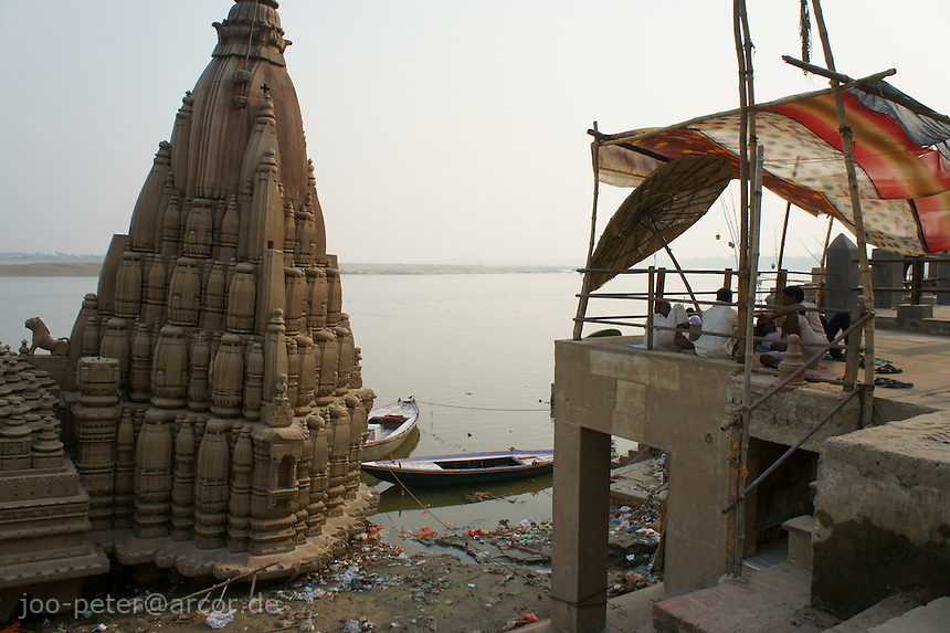 riverside Ganges in Varanasi