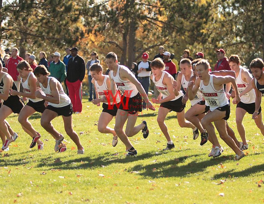 The Big Ten Men's Cross Country Championships, 10,28,2007. University Of Wisconsin. The University of Wisconsin's start at the 2007 Men's Big Ten Cross Country Championships hosted by the Ohio State University on October 28, 2007