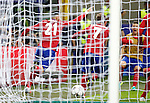 Atletico de Madrid's Yannick Ferreira Carrasco, Antoine Griezmann and Lucas Hernandez celebrate goal during UEFA Champions League 2015/2016 Final match.May 28,2016. (ALTERPHOTOS/Acero)