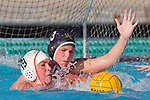 Manhattan Beach, CA 02/09/11 - Natalie Lavinsky (Mira Costa #3) and Jaycee Baldus (Redondo Union #19) in action during the final regular season game at Mira Costa High School, Mira Costa defeated Redondo 12-6 for a Bay League title.