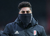 2nd December 2017, Griffen Park, Brentford, London; EFL Championship football, Brentford versus Fulham; Marcelo of Fulham covers his mouth due to the cold weather before kick off