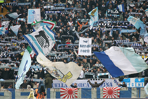 13th December 2009: Lazio Fans during the match for the Italian Serie A Soccer Lazio V.Genoa at the Olympic Satadium,Rome.Photo by Leonardo Cavallo/ActionPlus - Worldwide Editorial