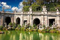 Royal Park of the Palace of Caserta - Aeolus Fountain. Italy. A UNESCO World Heritage Site