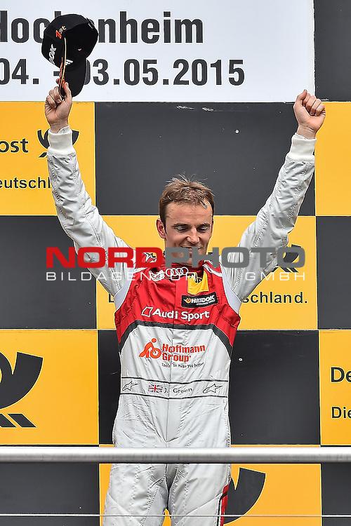 DTM 2015, 01.Lauf Hockenheimring, 01.05. - 03.05.15 <br /> Sieger Jamie Green (GBR#53) Audi Sport Team Rosberg Audi RS 5 DTM <br /> <br /> <br /> <br /> Foto &copy; nordphoto /  Bratic