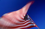 American Flag blurred waving in the wind