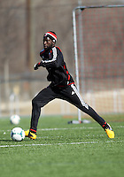 WASHINGTON, DC - February 06, 2012: Brandon McDonald of DC United during a pre-season practice session at Long Bridge Park, in Arlington, Virginia on February 6, 2013.