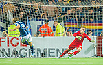 Stockholm 2015-08-24 Fotboll Allsvenskan Djurg&aring;rdens IF - Hammarby IF :  <br /> Djurg&aring;rdens Jesper Arvidsson fg&ouml;r 1-1 p&aring; straff under matchen mellan Djurg&aring;rdens IF och Hammarby IF <br /> (Foto: Kenta J&ouml;nsson) Nyckelord:  Fotboll Allsvenskan Djurg&aring;rden DIF Tele2 Arena Hammarby HIF Bajen jubel gl&auml;dje lycka glad happy