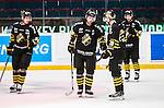 Stockholm 2014-09-27 Ishockey Hockeyallsvenskan AIK - Mora IK :  <br /> AIK:s Michael Nylander och David Lilliestr&ouml;m Karlsson deppar med lagkamrater<br /> (Foto: Kenta J&ouml;nsson) Nyckelord:  AIK Gnaget Hockeyallsvenskan Allsvenskan Hovet Johanneshovs Isstadion Mora MIK depp besviken besvikelse sorg ledsen deppig nedst&auml;md uppgiven sad disappointment disappointed dejected