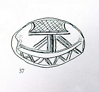 Ancient Ships:  Caetan vessel shown on Minoan seal, ca. 1600-1200 B.C.