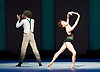 Bolshoi Ballet <br /> The Taming of the Shrew <br /> choreography by Jean-Christophe Maillot <br /> at The Royal Opera House, Covent Garden, London, Great Britain <br /> rehearsal of act 1<br /> 3rd August 2016 <br /> <br /> Ekaterina Krysanova as Katherina<br /> Vladislav Lantratov as Petruchio <br /> <br /> <br /> <br /> Photograph by Elliott Franks <br /> Image licensed to Elliott Franks Photography Services