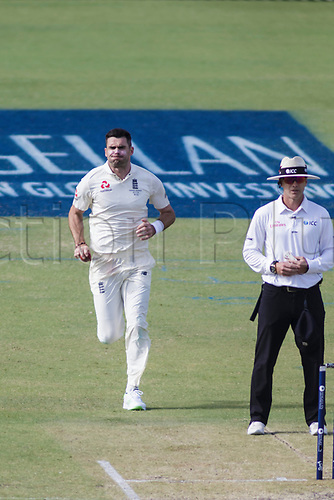 15th December 2017, The WACA, Perth, Australia; The Ashes Series, third test, day 2,  Australia versus England; England player James Anderson runs in to bowl