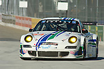 31 August 2007: The Team Trans Sport Porsche 911 GT3 RSR driven by Terry Borcheller (USA) and Tim Pappas (USA) at the Detroit Sports Car Challenge presented by Bosch, Detroit, MI