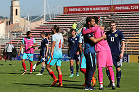 Turkey U21's celebrate their penalty shoot-out victory during Turkey Under-21 vs Scotland Under-21, Tournoi Maurice Revello Football at Stade Francis Turcan on 9th June 2018
