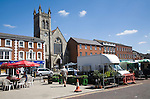 Market place in the town centre of East Dereham, Norfolk, England