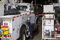 Gulf Power crews leaving to help restoration efforts before Hurricane Dorian makes landfall. Pensacola, Florida on September 2, 2019.
