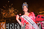 Luxembourg Rose Nicola McEvoy, the 2012 Rose of Tralee at the Denny Street stage on Tuesday for Midnight Madness.