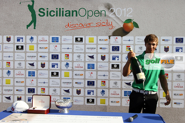 Thorbjorn Olesen (DEN) on Day 4 of the 2012 Sicilian Open at Verdura Golf and Spa Resort, Sicily, Italy...(Photo Jenny Matthews/www.golffile.ie)
