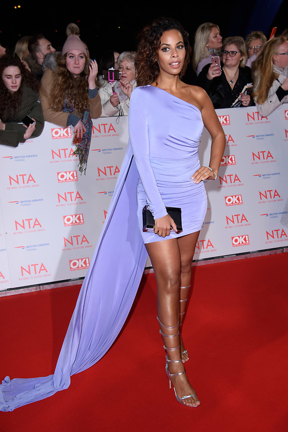 Rochelle Humes<br /> arriving for the National Television Awards 2018 at the O2 Arena, Greenwich, London<br /> <br /> <br /> ©Ash Knotek  D3371  23/01/2018