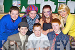 Causeway teenagers providing the drama at the KDYS County variety finals in Currow Community Centre on Friday night front row l-r: Joseph Diggins, Brandon Barrett, Stephen Murphy. Daniel O'Halloran, Patrice Diggins, Rebecca Mulvihill and Jason Diggins .