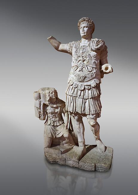 Roman statue of Emperor Trajan. Marble. Perge. 2nd century AD. Inv no11.13.79 . Antalya Archaeology Museum; Turkey.
