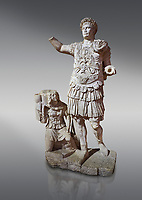 Roman statue of Emperor Trajan. Marble. Perge. 2nd century AD. Inv no11.13.79 . Antalya Archaeology Museum; Turkey.