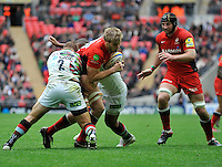 London, England. George Kruis of Saracens in action during the Saracens and Harlequins Aviva Premiership with a world record crowd of 83,761 for a club rugby match at Wembley Stadium. 31March 2012 at Wembley Stadium, London, England,