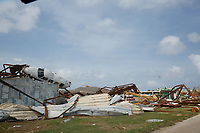 Damage caused to buildings and planes by Hurricane Irma at the main airport of the British Virgin Islands on Beef Island.