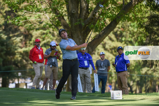Francesco Molinari (ITA) watches his tee shot on 8 during round 1 of the World Golf Championships, Mexico, Club De Golf Chapultepec, Mexico City, Mexico. 2/21/2019.<br /> Picture: Golffile | Ken Murray<br /> <br /> <br /> All photo usage must carry mandatory copyright credit (© Golffile | Ken Murray)