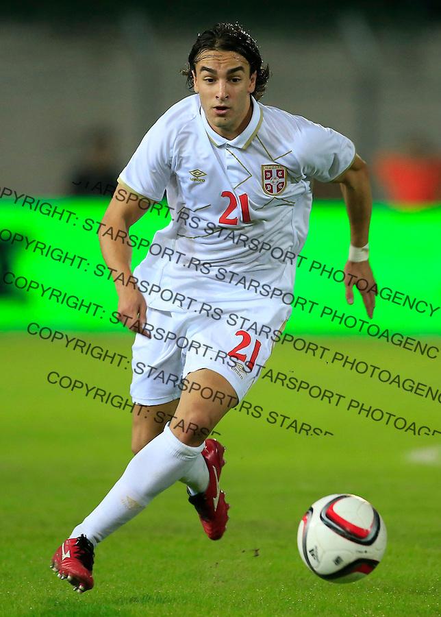 Fudbal<br /> Prijateljski mec-Friendly match<br /> Srbija v Grcka<br /> Lazar Markovic<br /> Chania, 17.11.2014.<br /> foto: Srdjan Stevanovic/Starsportphoto &copy;