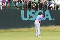 Matt Fitzpatrick (ENG) putts on the 10th green during Saturday's Round 3 of the 117th U.S. Open Championship 2017 held at Erin Hills, Erin, Wisconsin, USA. 17th June 2017.<br /> Picture: Eoin Clarke | Golffile<br /> <br /> <br /> All photos usage must carry mandatory copyright credit (&copy; Golffile | Eoin Clarke)