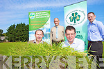 ADVICE: Announcing details of the forthcoming inheritance and land transfer information evening for farmers on September 7th, front l-r: Emmet Spring (South Kerry Development Partnership), Chairman of Kerry IFA James McCarthy. Back l-r: Flor McCarthy (IFA), William Shortall (IFA).