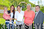 Noreen O'Leary the Killarney Heights wedding co-ordinator the new gardens to Jaylinn O'Leary, Yvonne Slevin, Noreen O'Leary and Margaret Slevin with Neil Buckley Sales and Marketing manager during their wedding fair on Sunday